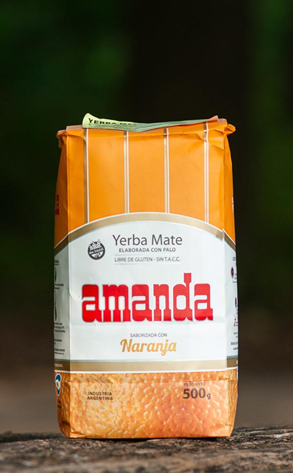 Amanda - Naranja Pomarańczowa | yerba mate | 500g