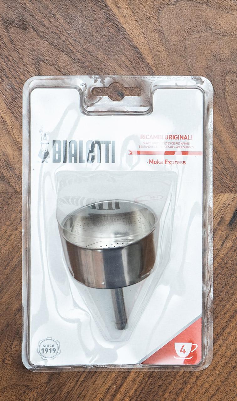 Bialetti - lejek z sitkiem zamienny | do aluminiowych kawiarek 4tz