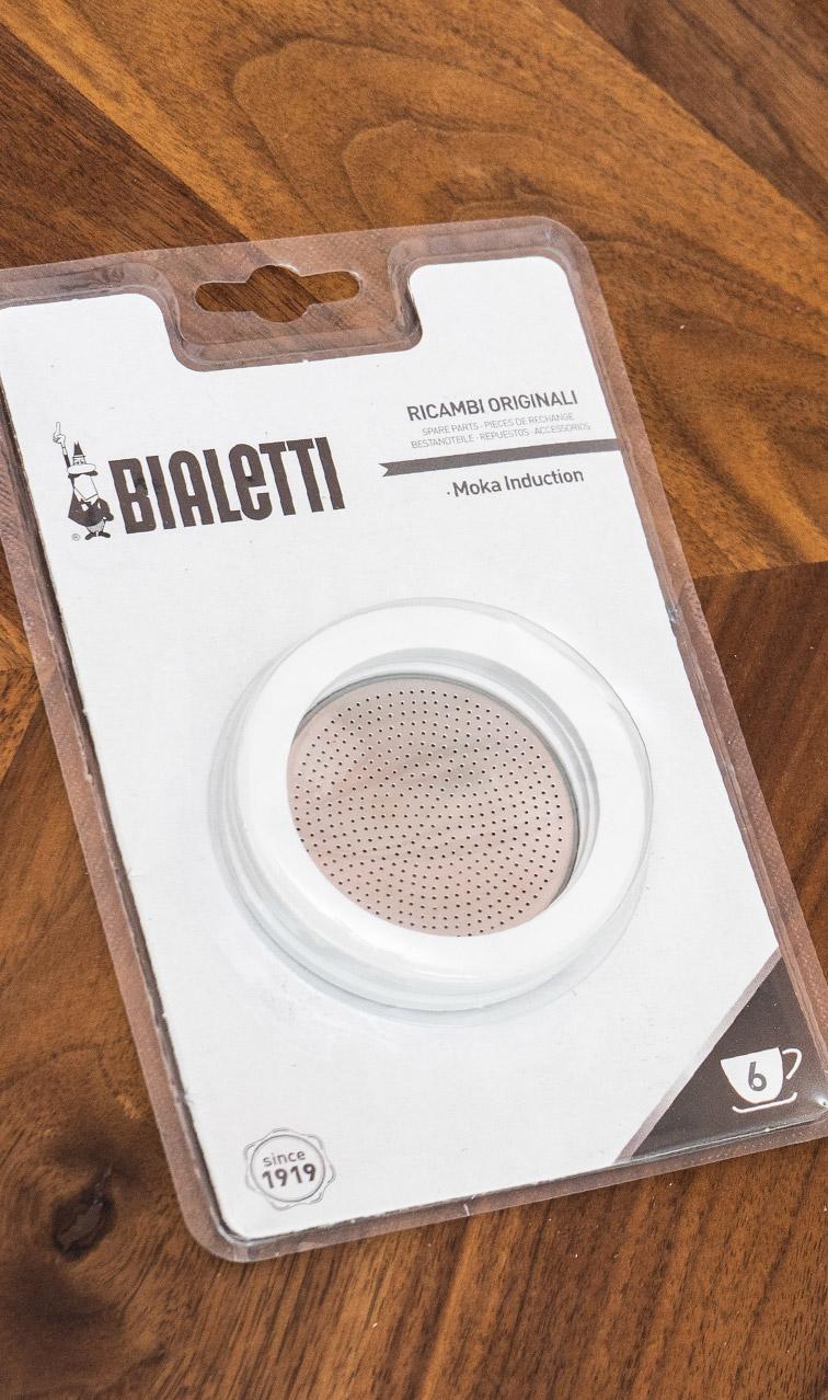 Bialetti zestaw uszczelek z sitkiem | do kawiarek Moka Indukcyjnych 6tz