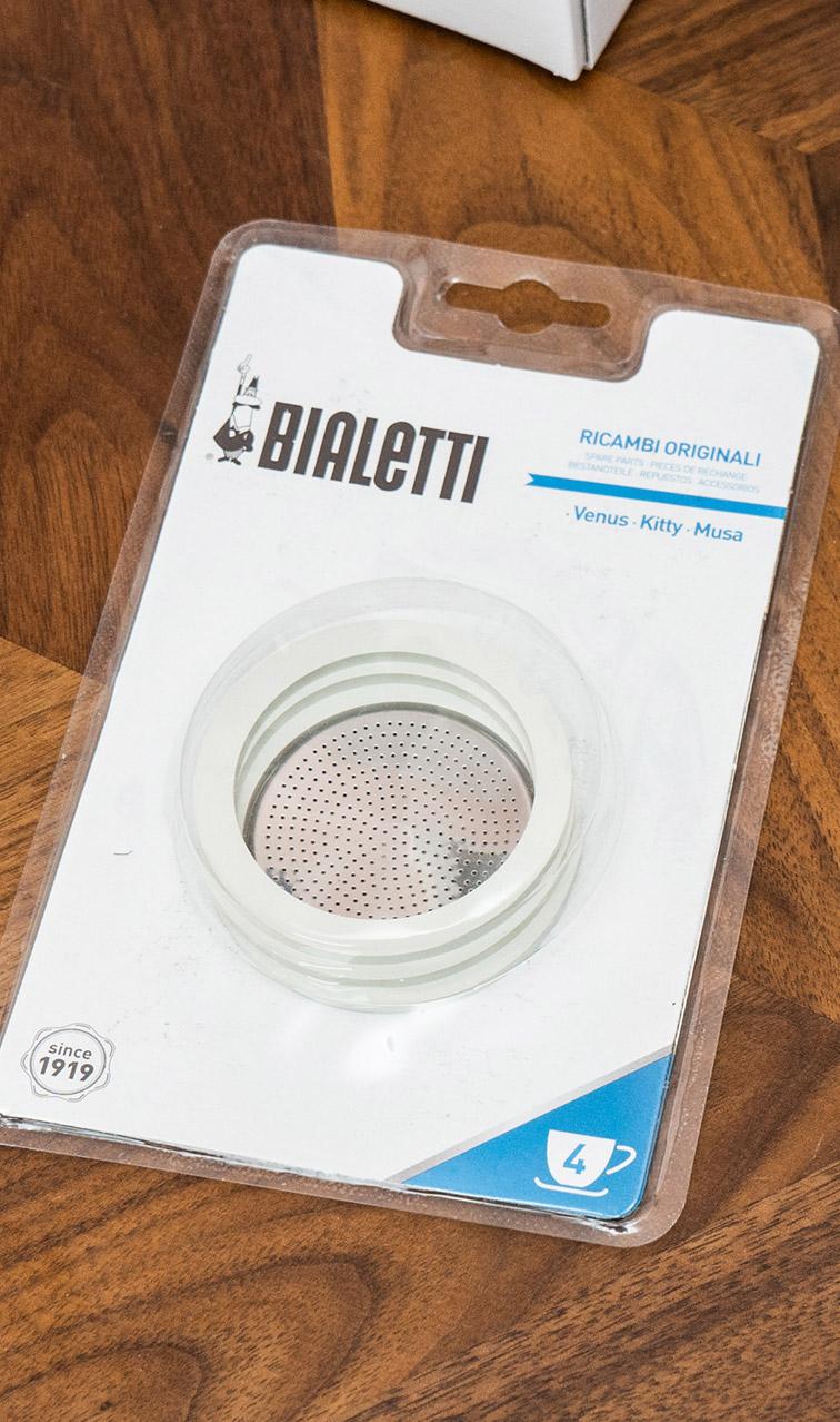 Bialetti - zestaw uszczelek z sitkiem | do kawiarek stalowych 4tz