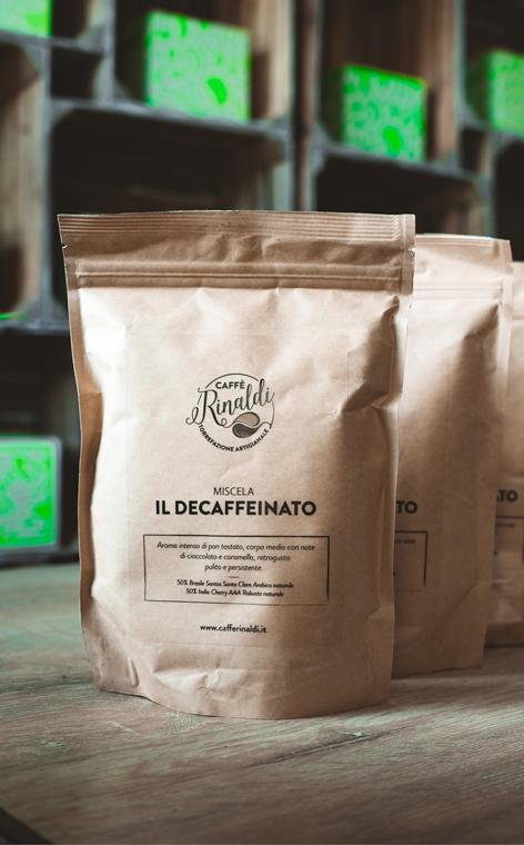 Caffe Rinaldi - Il Decaffeinato | kawa ziarnista bezkofeinowa | 250g