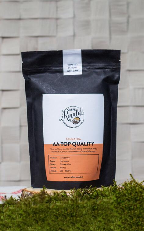 "Caffe Rinaldi - Tanzania Arabica AA ""Top Quality"" | kawa ziarnista | 250g"