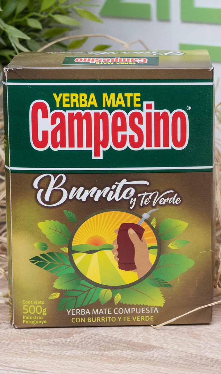 Campesino - Burrito y Te Verde | yerba mate | 500g
