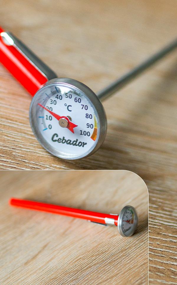 Cebador - termometr do yerby | analogowy termometr do cieczy