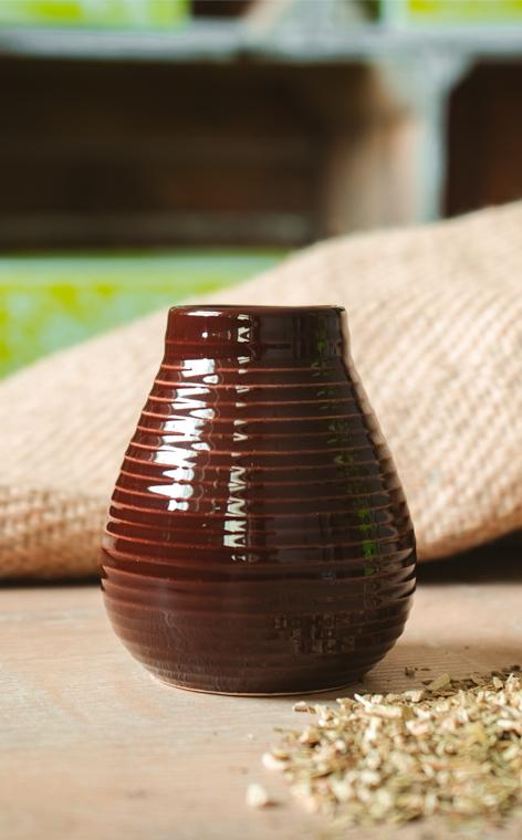 Tykwa - Ceramiczna Czekoladowa | naczynie do yerba mate | 250ml