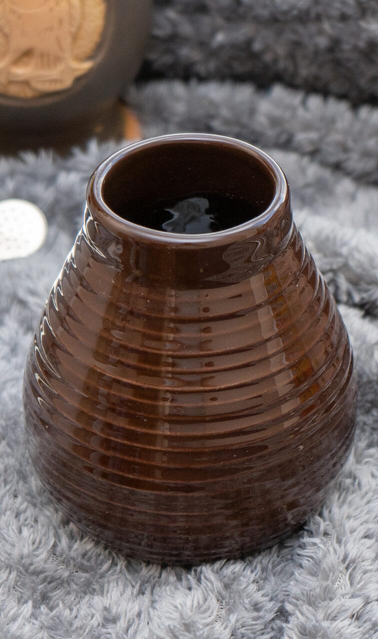 Tykwa - Ceramiczna Czekoladowa | naczynie do yerba mate | 330ml