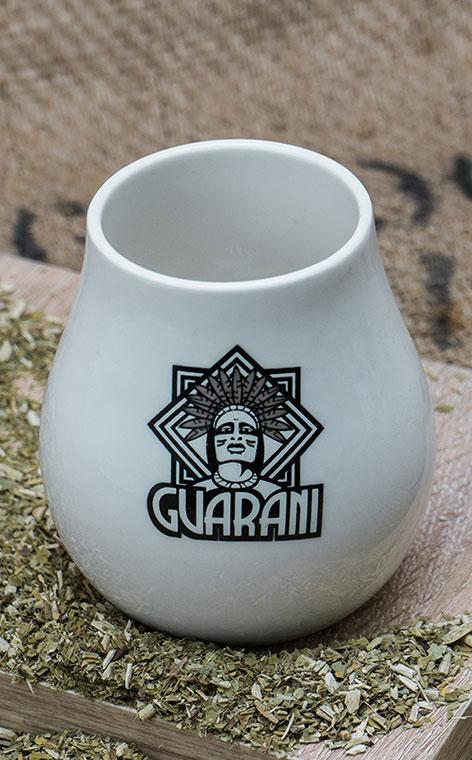 Tykwa - Ceramiczna Guarani Biała | naczynie do yerby | 350ml