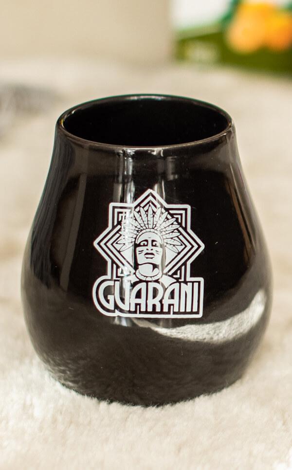 Tykwa Ceramiczna - Guarani czarna | naczynie do yerba mate | 350 ml