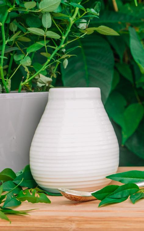 Tykwa - Ceramiczna miodowo ecru | naczynie do yerby | 330 ml
