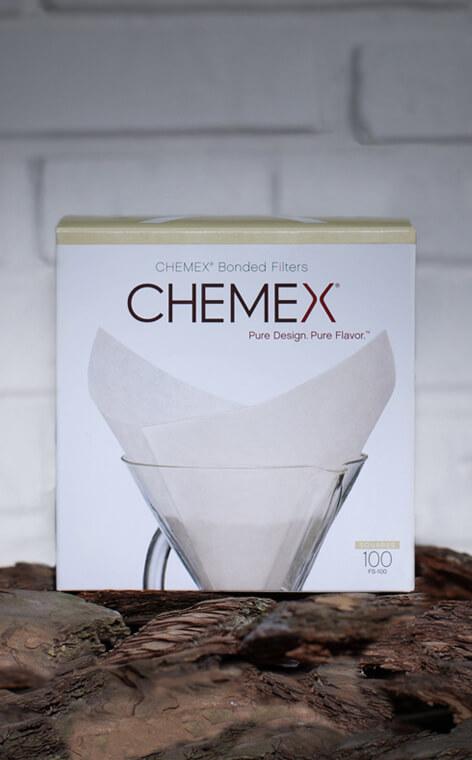 Chemex - filitry papierowe kwadratowe 6, 8, 10 filiżanek | Białe - 100szt.
