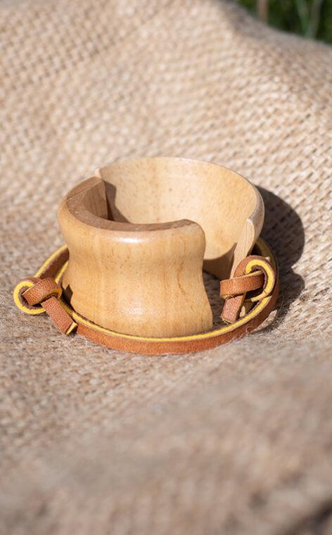 Chemex - Wood Collar and Tie 1 | zapasowy kołnierz do Chemex 3-Cup
