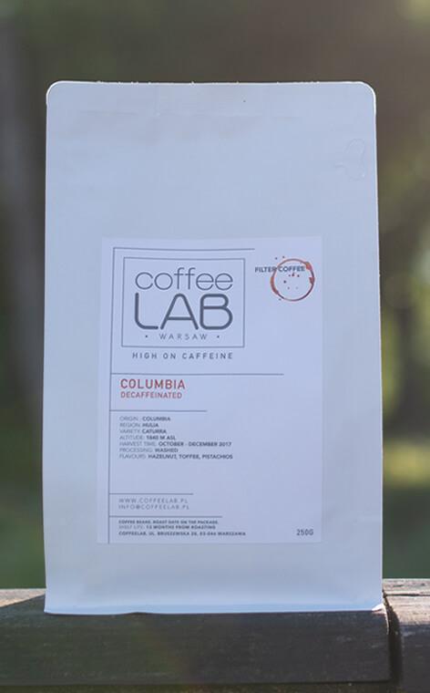 Coffeelab - Columbia Decaffeinated | kawa ziarnista bezkofeinowa | 250g