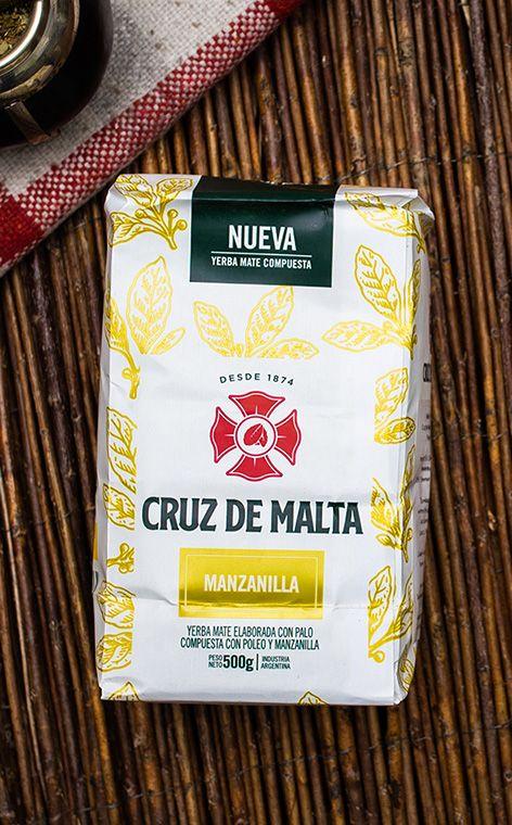 Cruz de Malta - Manzanilla | yerba mate rumianek z poleo | 500g