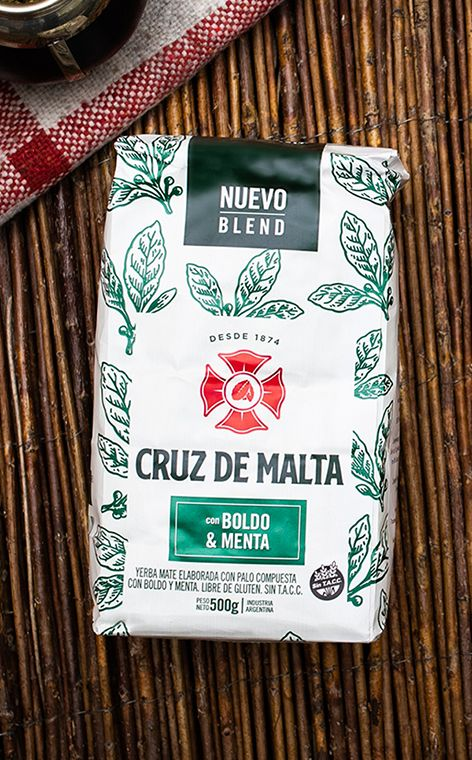 Cruz de Malta - Menta Boldo | yerba mate ziołowa | 500g