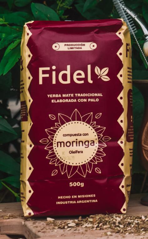 Fidel - Compuesta con moringa | rzemieÅ›lnicza yerba mate | 500g