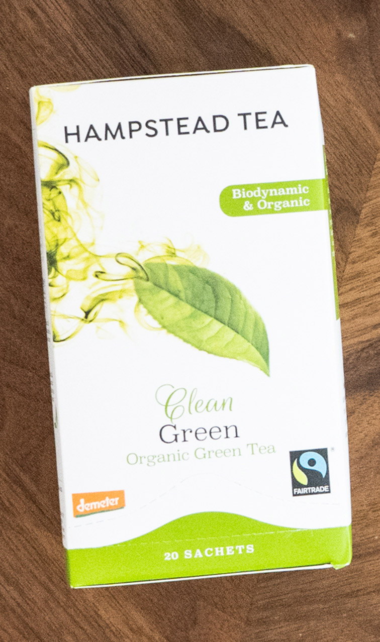 Hampstead Tea - Clean Green | zielona herbata bio | 20 saszetek