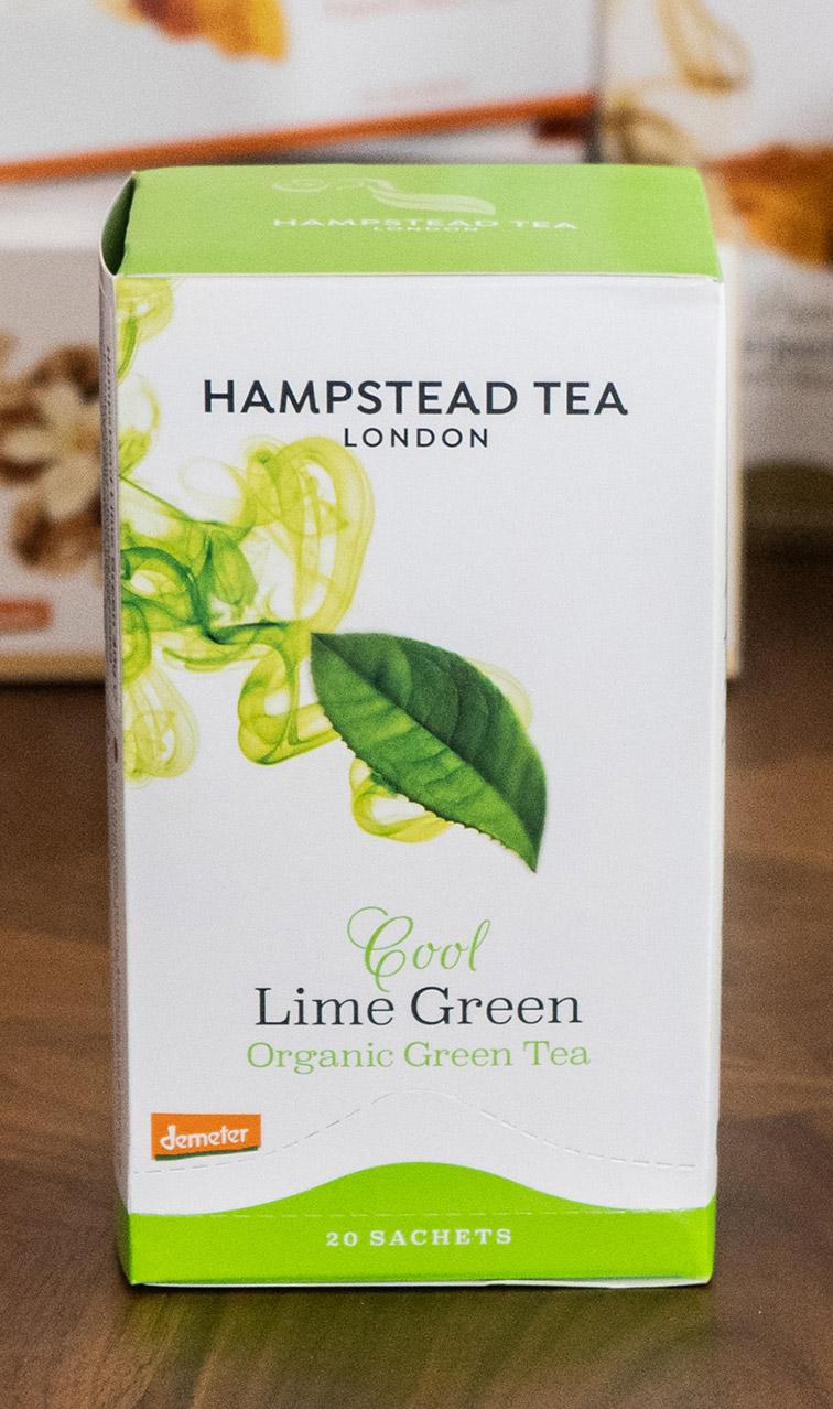 Hampstead Tea - Cool Lime Green | zielona herbata bio | 20 saszetek