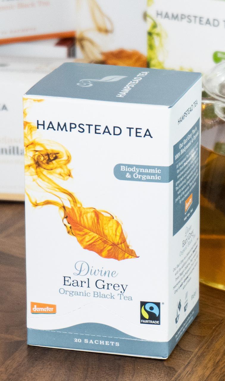 Hampstead Tea - Divine Earl Grey | czarna herbata bio | 20 saszetek
