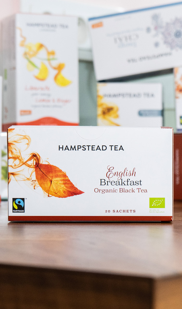 Hampstead Tea - English Breakfast | czarna herbata bio | 20 saszetek