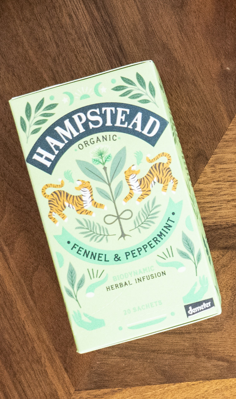 Hampstead Tea - Fennel & Peppermint | napar ziołowy bio | 20 saszetek