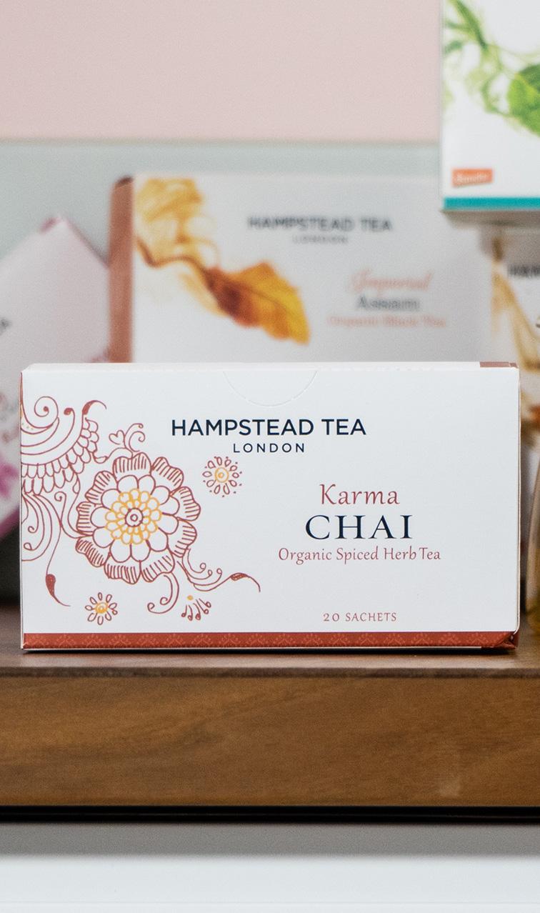 Hampstead Tea - Karma Chai | ziołowa herbata bio | 20 saszetek