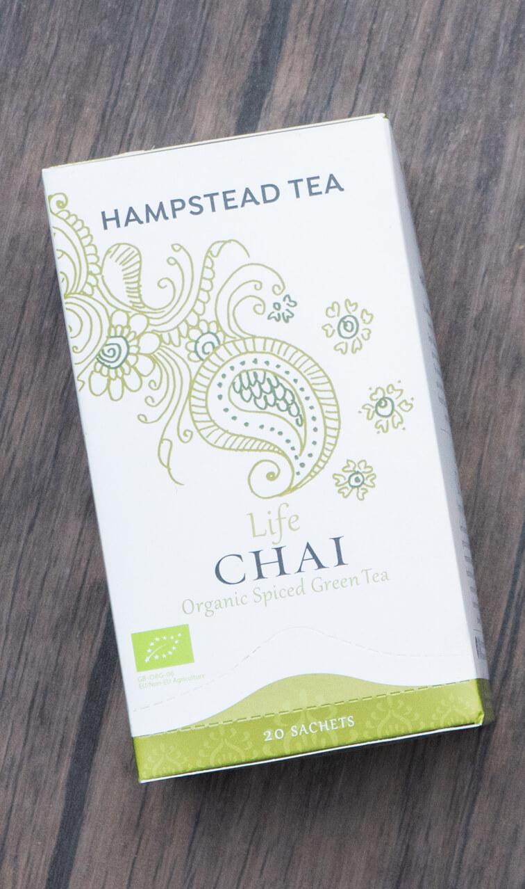 Hampstead Tea - Life Chai | zielona herbata z przyprawami | 20 saszetek
