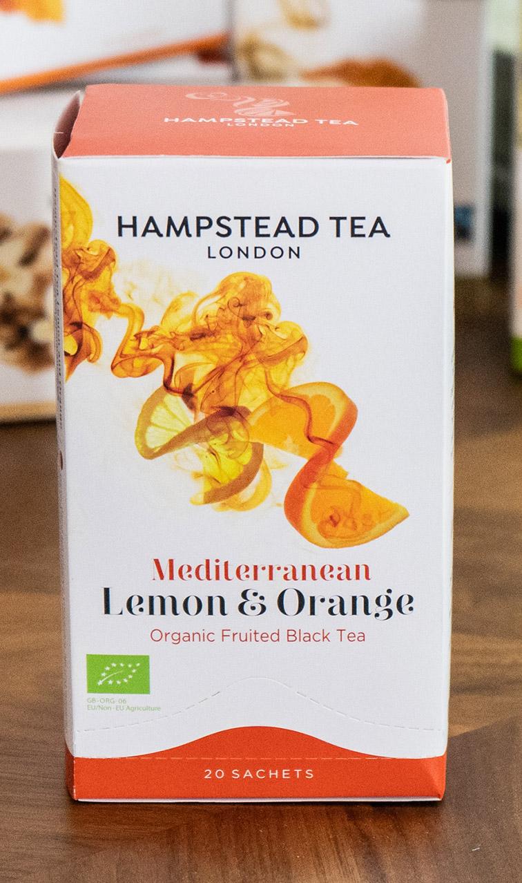 Hampstead Tea - Mediterranean Lemon & Orange | czarna herbata bio | 20 saszetek