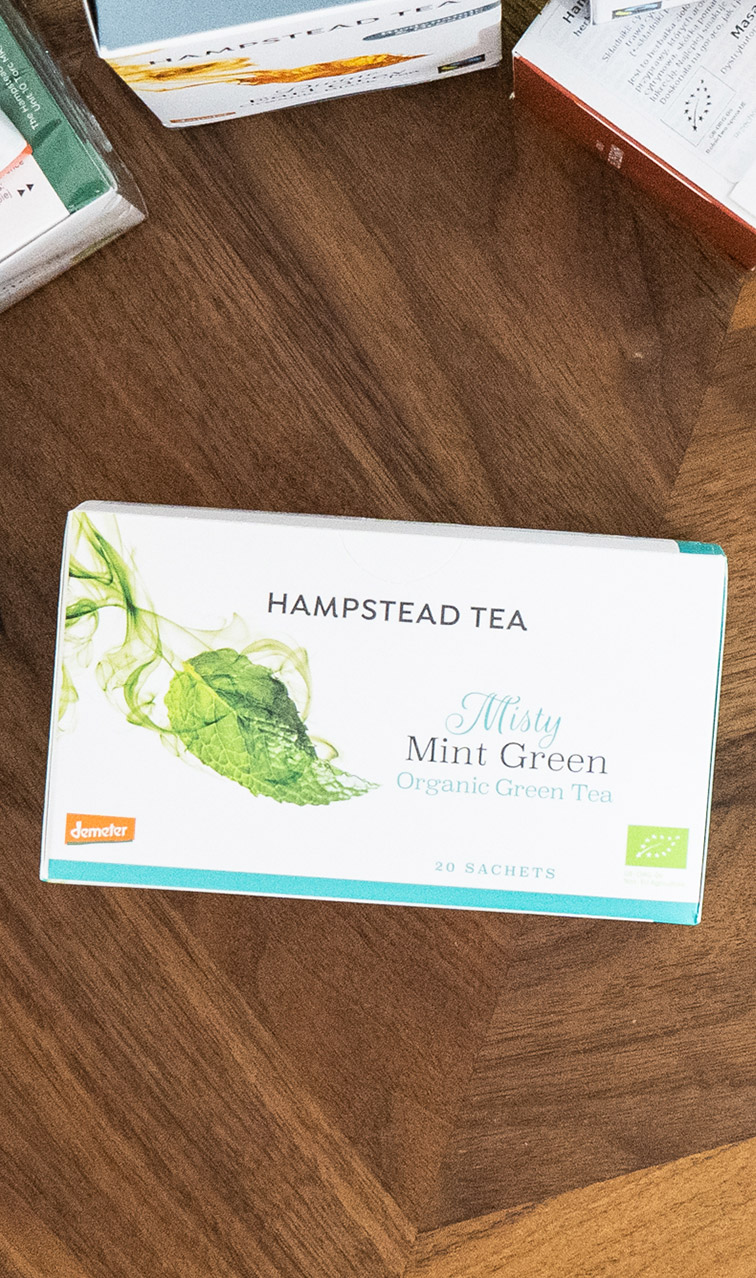 Hampstead Tea - Misty Mint Green | zielona herbata bio | 20 saszetek