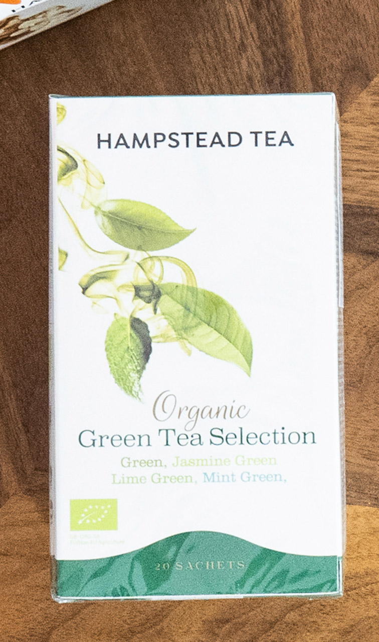 Hampstead Tea - Organic Green Tea Selection | miks zielonych herbat bio | 20 saszetek