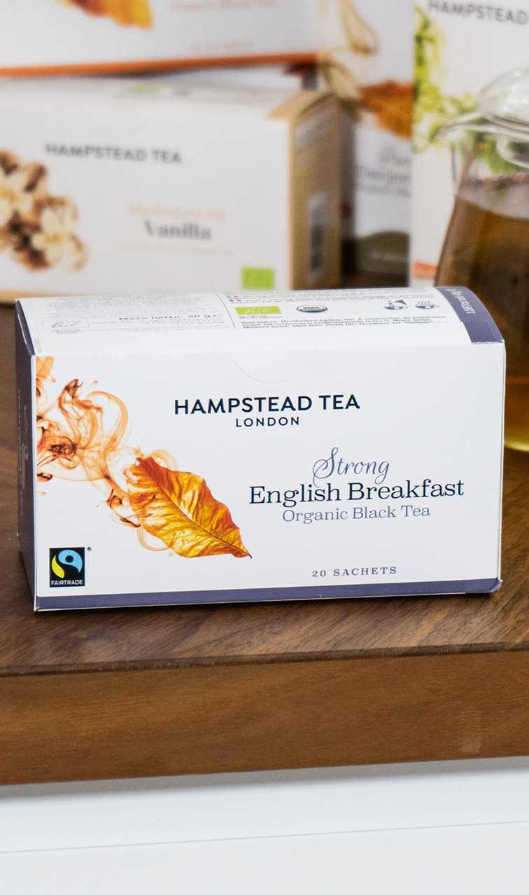 Hampstead Tea - Strong English Breakfast | czarna herbata bio | 20 saszetek