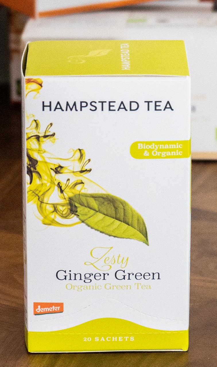 Hampstead Tea - Zesty Ginger Green | zielona herbata bio | 20 saszetek