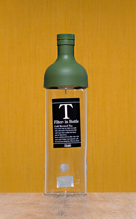 Hario - butelka z filtrem Cold Brew Tea | Oliwkowa zieleń