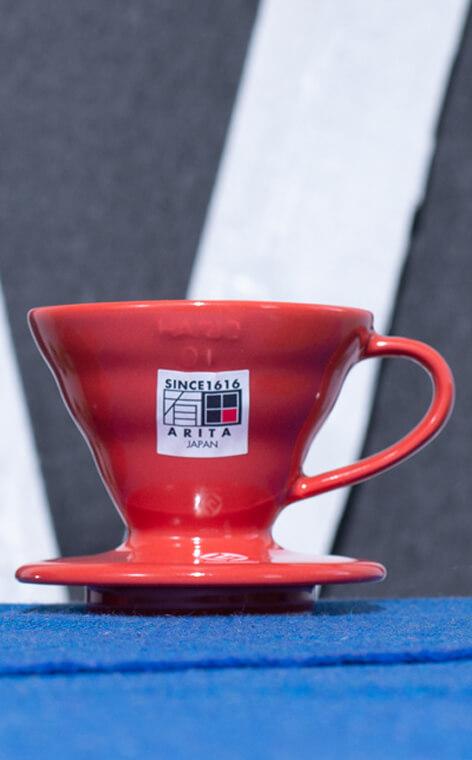 Hario - ceramiczny Drip V60-01 | drip do kawy | Czerwony