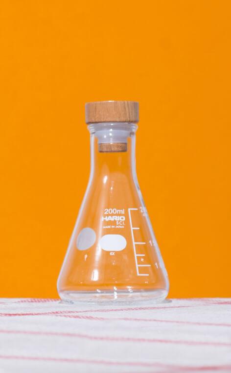 Hario - Flask Stocker M olive wood | pojemnik szklany | 200-250ml