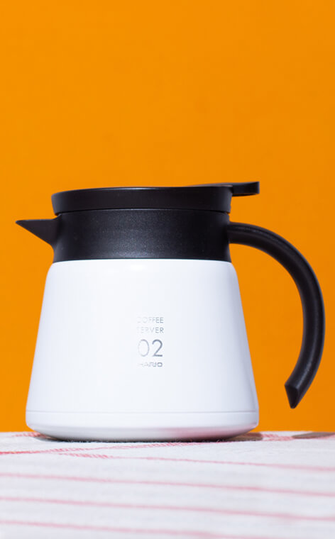 Hario - Insulated Stainless Steel Server V60-02 | Biały - 600ml