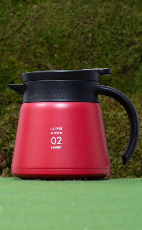 Hario - Insulated Stainless Steel Server V60-02 | Czerwony - 600ml