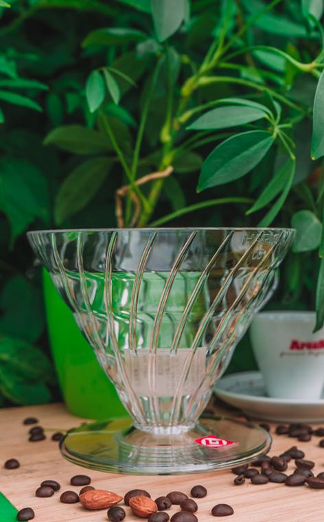 Hario - plastikowy Drip V60-03 | drip do kawy | Przezroczysty