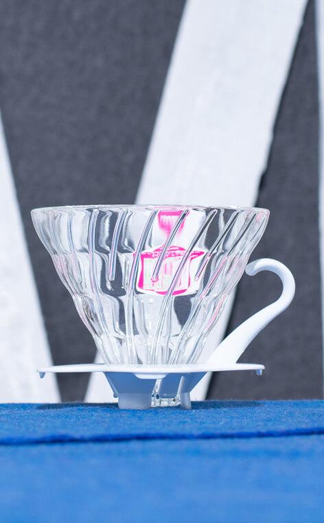 Hario - szklany Drip V60-02 | drip do kawy | Biały