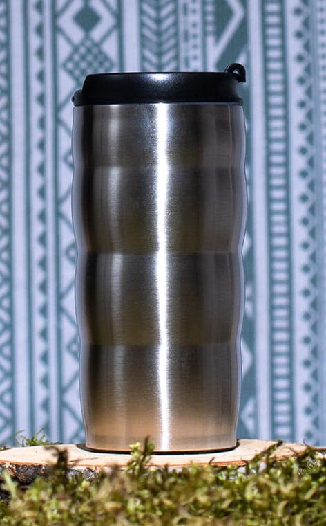 Hario - V60 Uchi-Mug | kubek termiczny do kawy | srebrny 350 ml