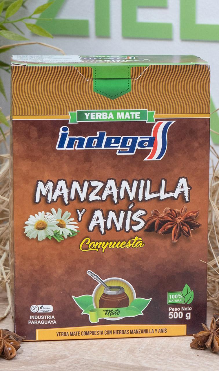 Indega - Manzanilla y Anis | yerba mate | 500g
