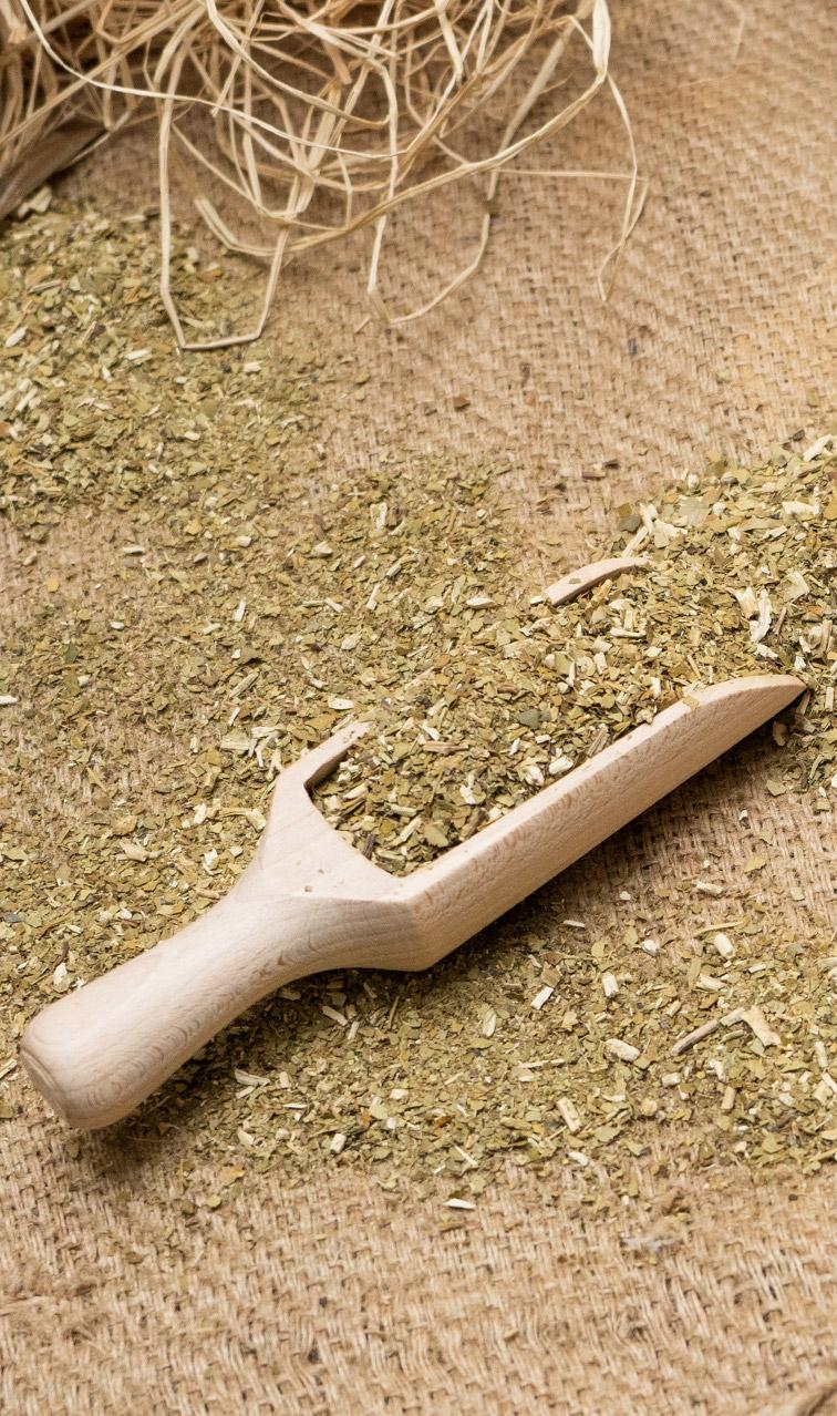 Nabierka - drewniana wielka | do yerba mate, ziół, przypraw