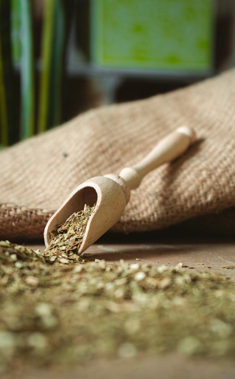 Nabierka - drewniana z rączką | do yerba mate ziół przypraw