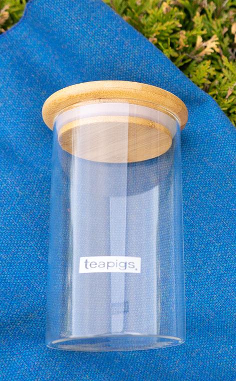 Teapigs - szklany pojemnik na herbatę kawę yerbę | 1l