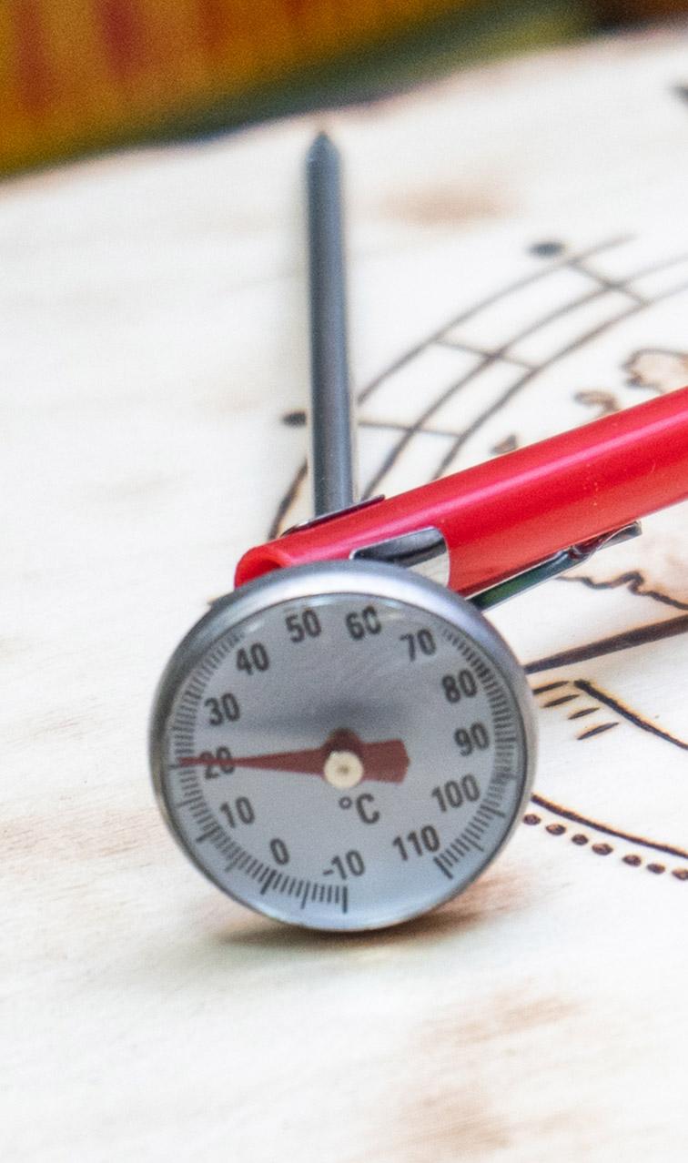 Termometr - do yerba mate | analogowy termometr do cieczy