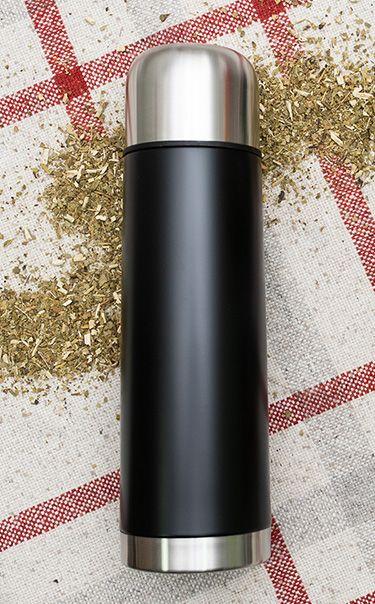 Termos - Standard 750ml | czarny | termos do yerba mate, kawy, herbaty