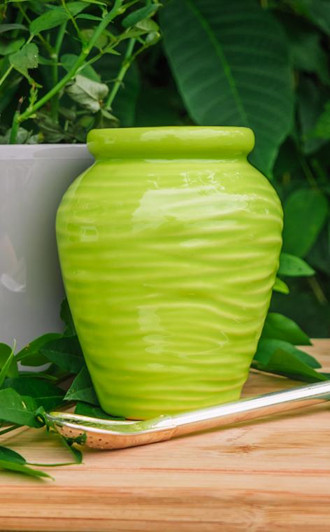 Tykwa - Ceramiczna Aztek groszkowa | naczynie do yerby | 260 ml