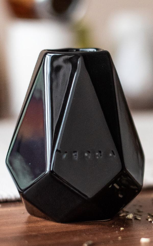 Tykwa Ceramiczna - Diament czarna | naczynie do yerba mate | 300 ml