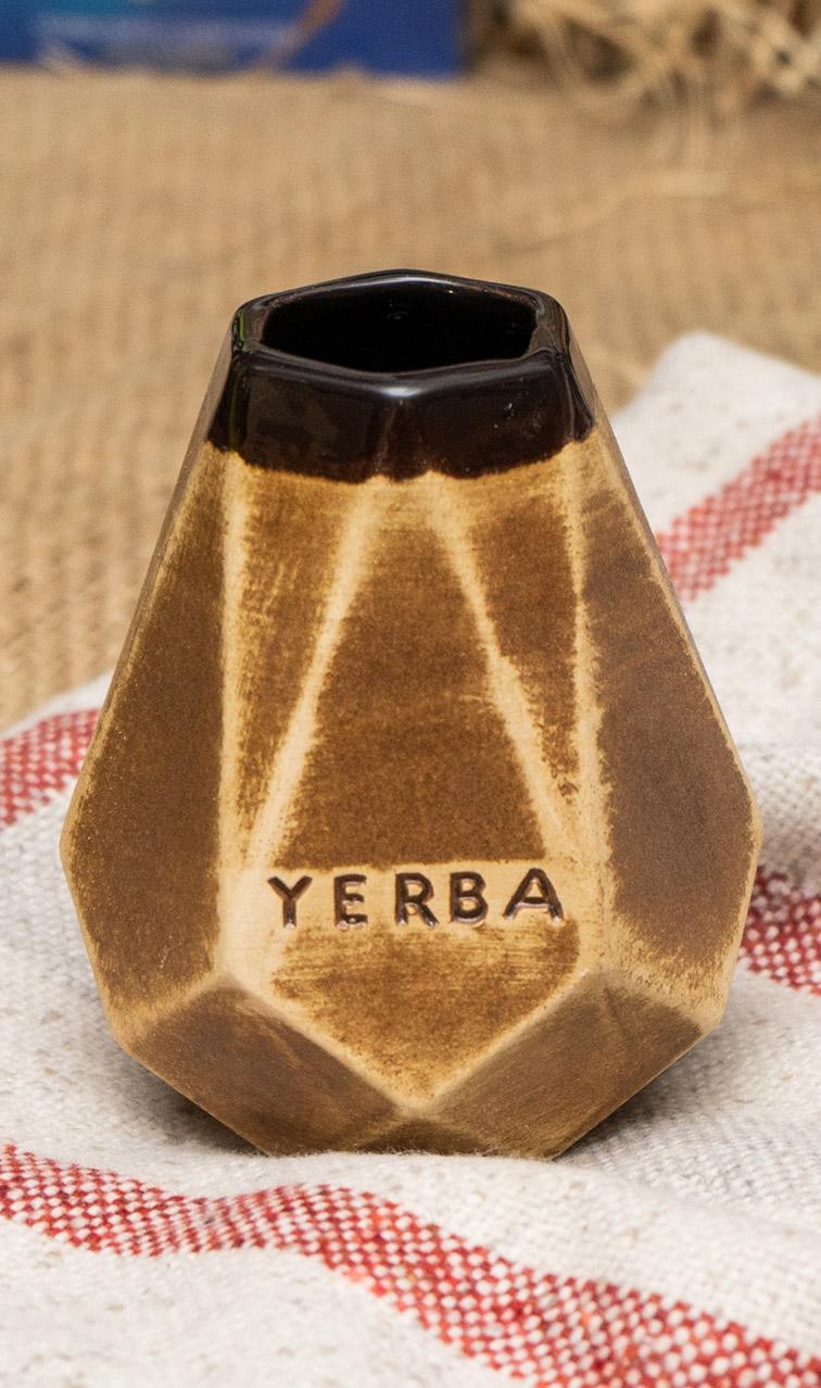 Tykwa - Ceramiczna Diament Miodowa   naczynie do yerba mate   300 ml