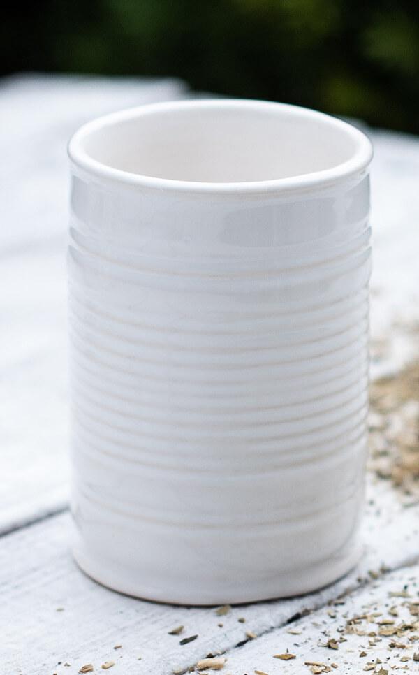 Matero/Tykwa -  Kubek ceramiczny biały | naczynie do yerba mate | 330 ml
