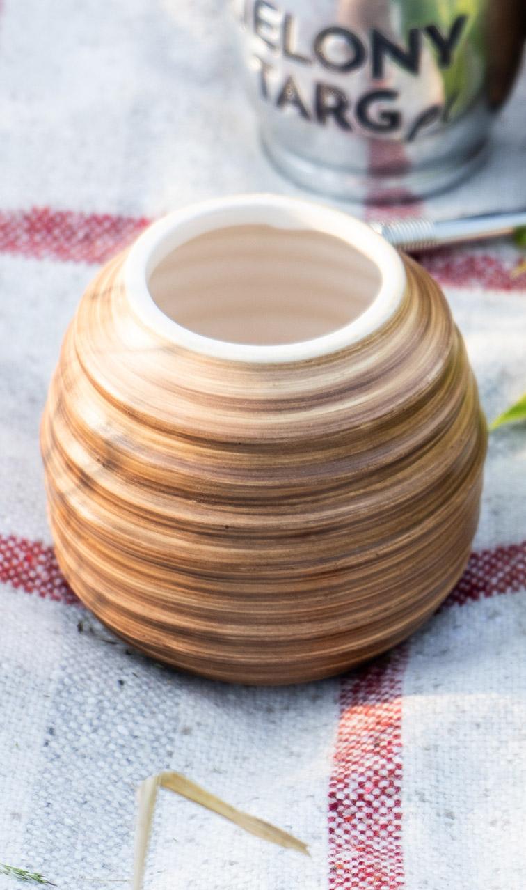 Tykwa - Ceramiczna Ligero miodowa | naczynie do yerby | 400ml